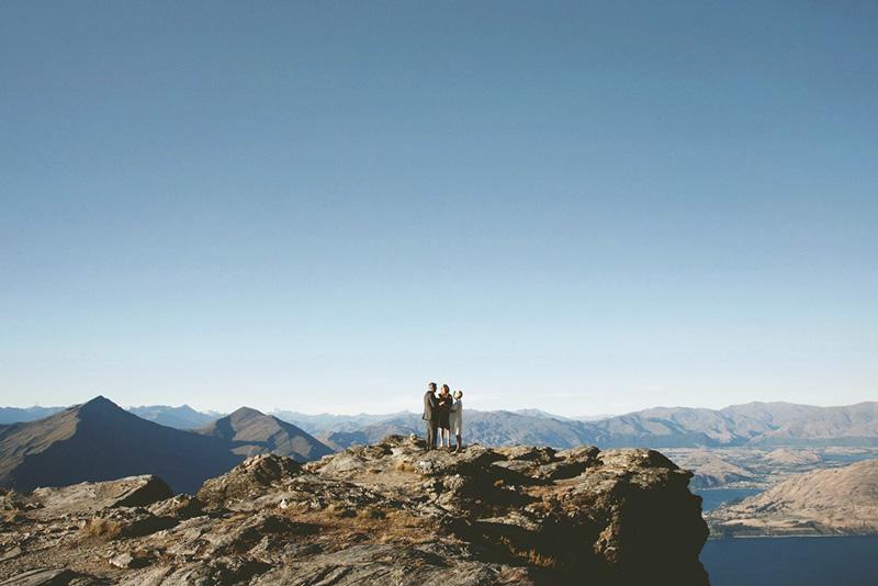 elopement ceremony on the ledge cecil peak