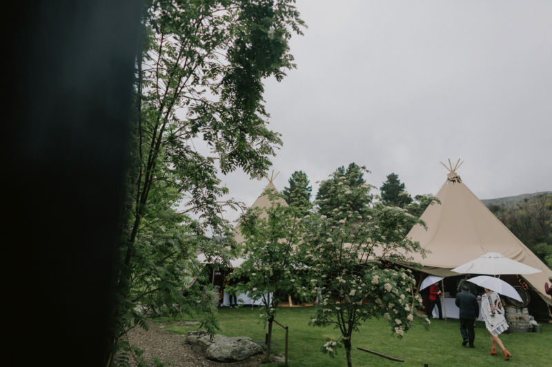 tipis from outside of festival