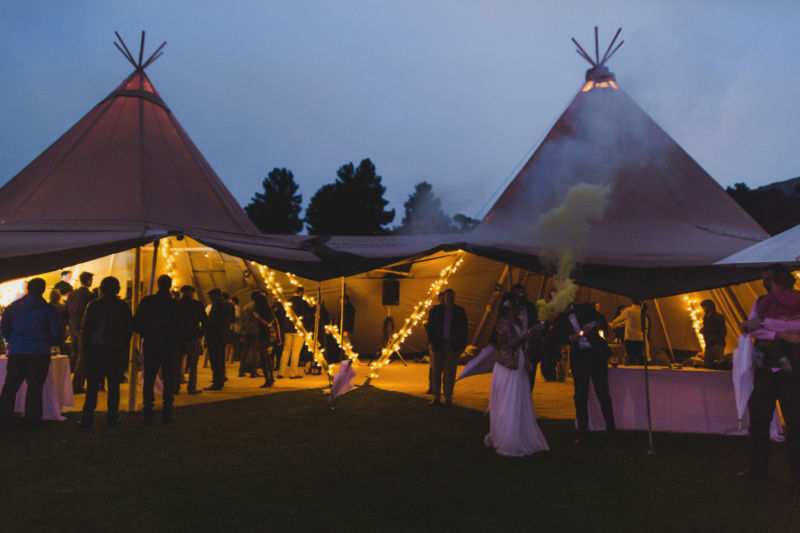 twilight and tipis