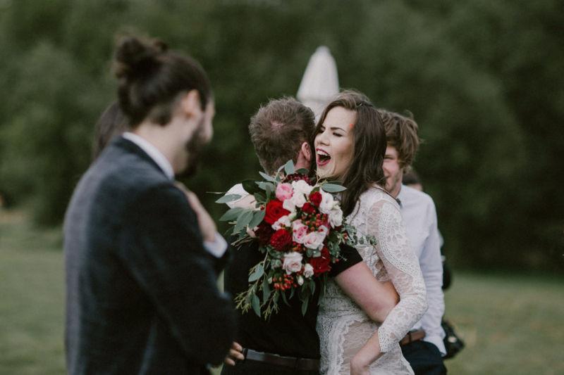 congratulation hug after the ceremony