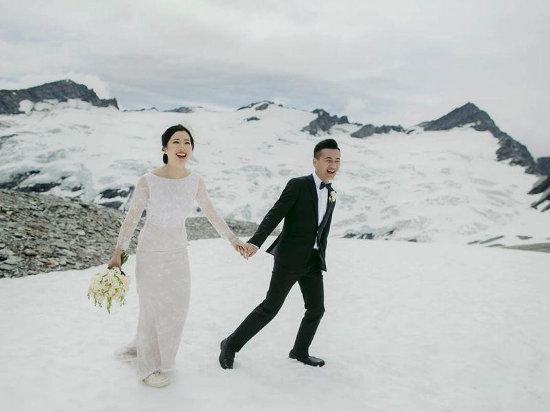 emily adamson elopement-snow-glacier-queenstown